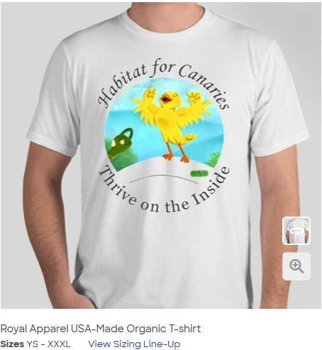 Screen capture of Custom Ink T-shirt